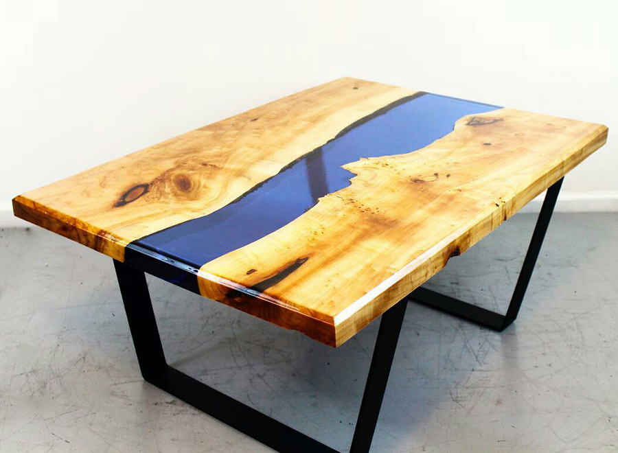 Efes Cedar Epoxy Coffee Table