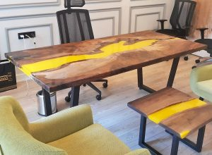 Simena Walnut Epoxy Table