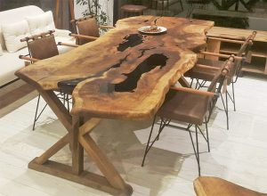 Emirgan Walnut Epoxy Table