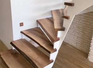 Pamukkale Natural Edge Walnut Stairs