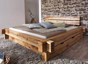 Zevye Rustic and Brushed Cedar Wood Bedframe